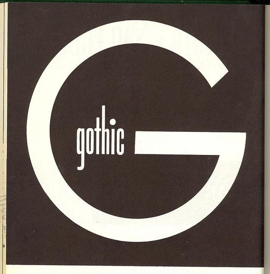 Gothic. No designer credit, boo!