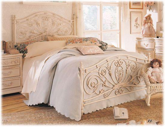 Romantic Metal Bed, 'Jessica McClintock Home