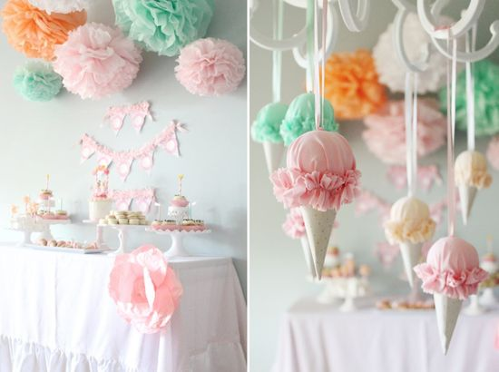 Girly Ice Cream Twins Happy Twins' Birthday Party Planning Ideas