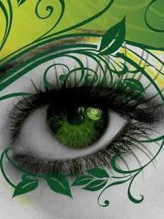 green eyes.....