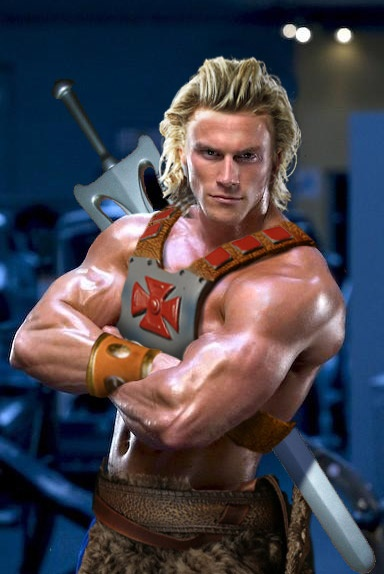 He-Man cosplay.  O.0