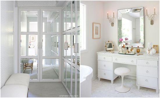 Dream Bathroom--I love the closet doors!