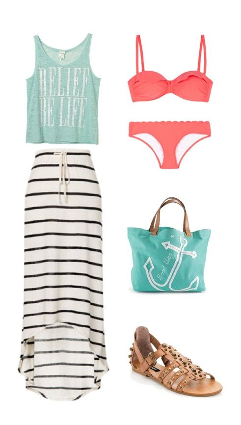 Beach outfit , not fan if bathing suit or sandals though
