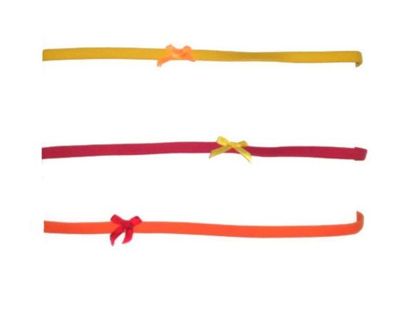 Set of Three Red Yellow Orange Bow Womens by AccursedDelights, $6.00