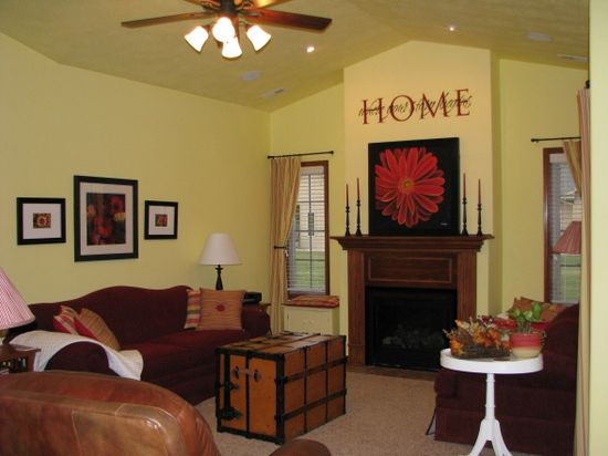 Yellow Cottage Living Room on a budget,