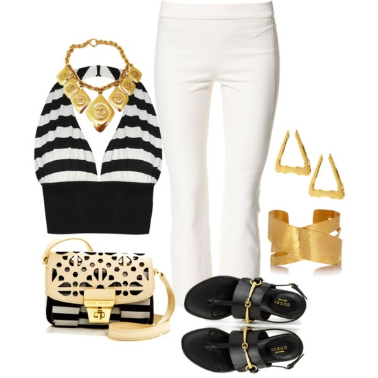 """White Pants"" by amichelle4964 on Polyvore"