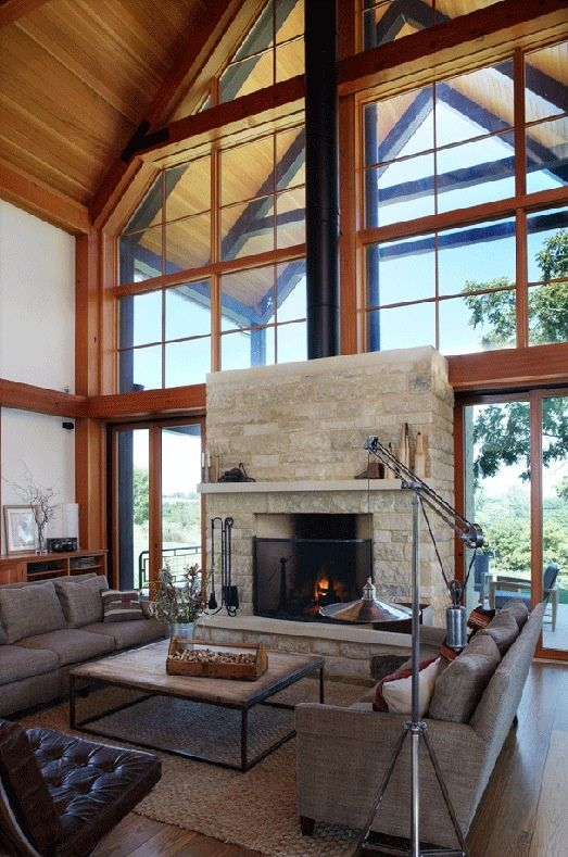 Timber Frame Living Room Design By Northworks Architecture