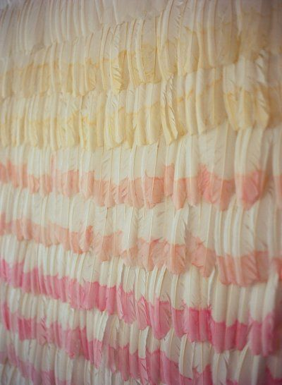 ombre feather backdrop