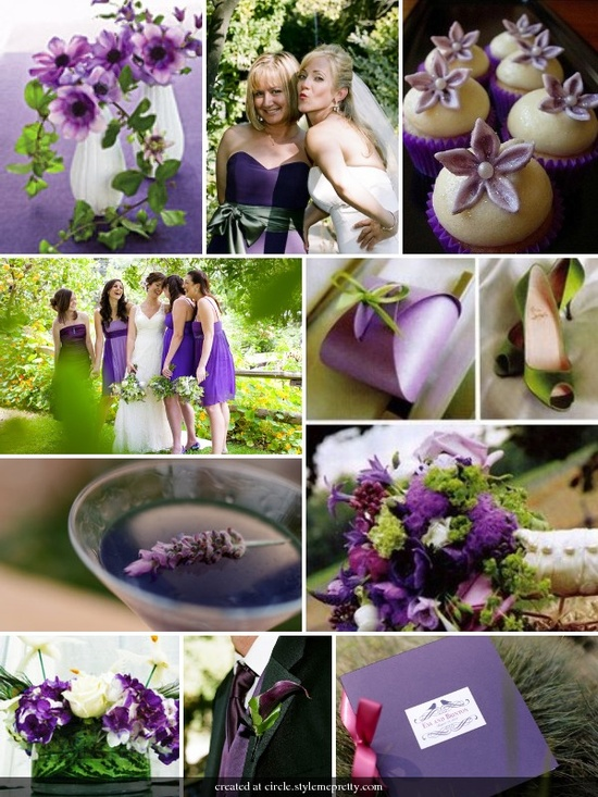 PURPLE AND GREEN By Bride Chic -- see more at LuxeFinds.com