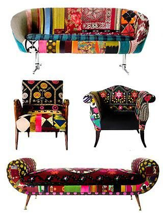 Bojka furniture  AMAZZZZINNNGGG!  Don't be afraid to mix prints and be BRIGHT!  Inspiration for CLOUD HUNTER www.cloudhunterco... specializing in one of a kind USA made designer bedding.