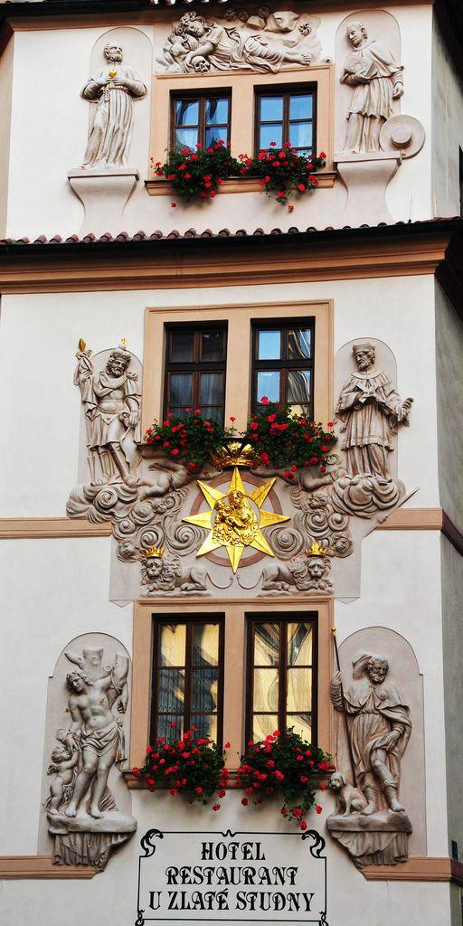 Six windows in Prague, Czech Republic
