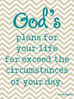 God's plans...