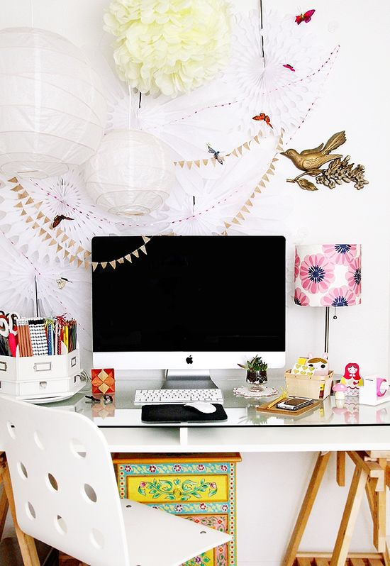 A fun home office design