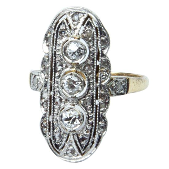 1920's  Diamond Gold Ring