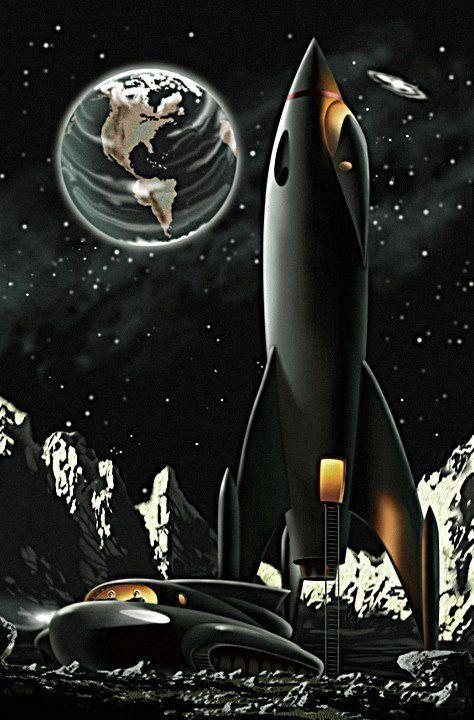 space sci-fi art