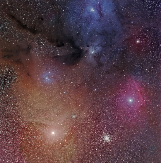 Rho Ophiuchus with Antares and M4 by Phillip L. Jones