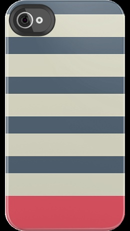 Nautical Stripe by Uncommon for iPhone 4/4S Deflector