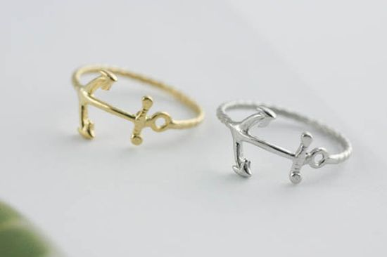 Anchor rings from Etsy
