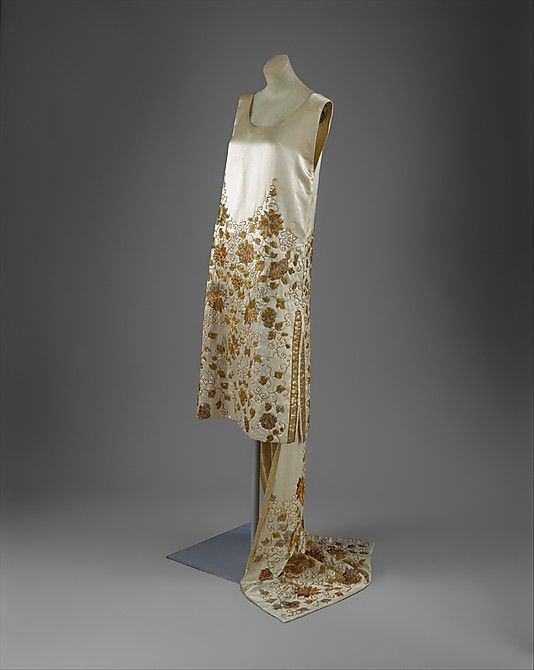 Evening Dress 1925, French, Made of silk