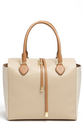 Michael Kors 'Miranda - Large' Colorblock Calfskin Tote   ~ love this bag!