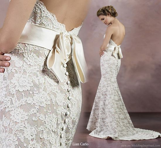 I love the lace and low cut back.