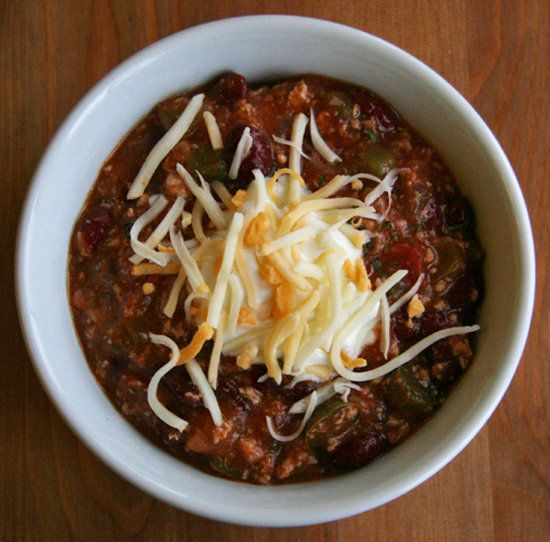 Spicy chicken chili — a perfect dinner for a cold night.