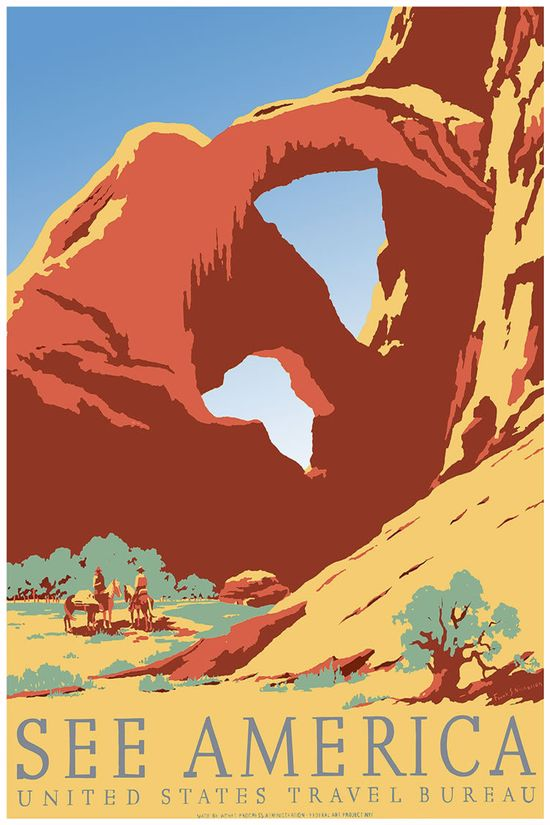 Red Rocks- WPA poster from the Late 1930's.