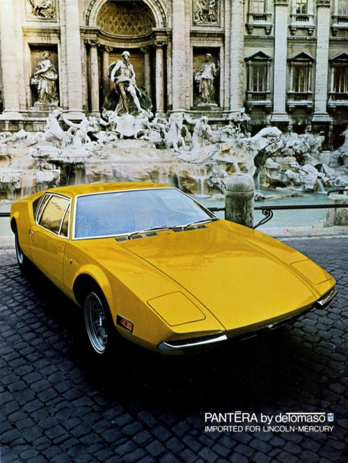 The Pantera was a sports car produced by the De Tomaso car company of Italy from 1971 to 1991.