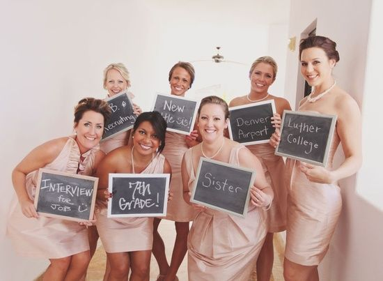 Where you met all your bridesmaids. Cute idea.