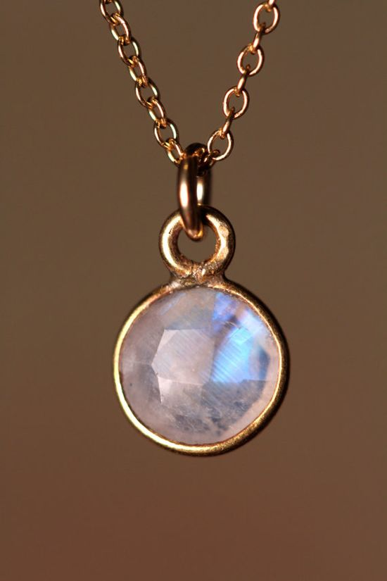 A glimmering moonstone pendant.