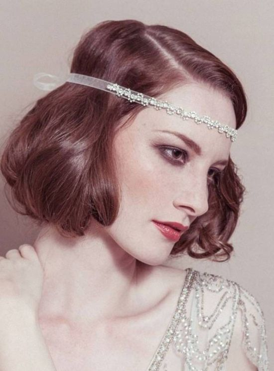 Inspiration for flapper hairstyle.