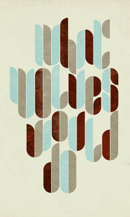 geometric texture letters