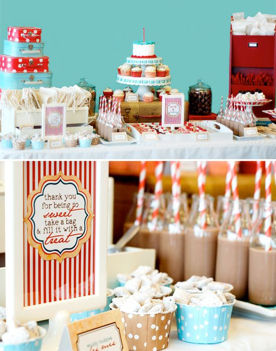 Milk glasses & straws (whole theme and ideas are GREAT!)