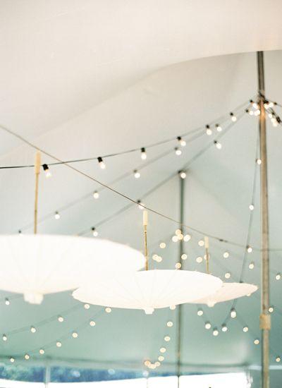 tent lighting + parasols