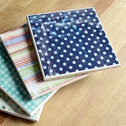 Quick and easy tutorial on how to make these DIY drink coasters!
