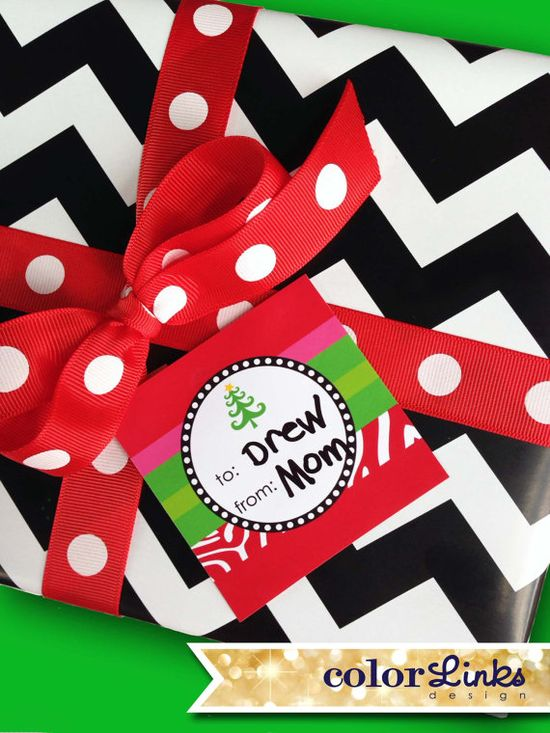 Christmas Gift Wrap Stickers