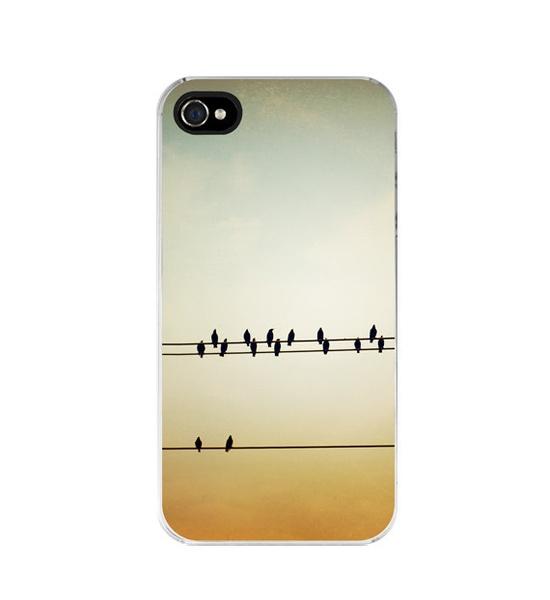 iPhone Case 4s 4  birds on wire  iphone 4 case by CarolynCochrane, $32.00
