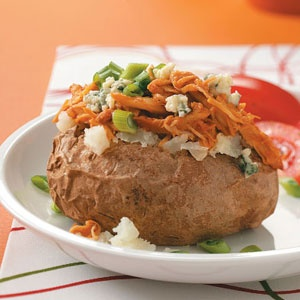 BBQ chicken baked potatoes - crock pot recipe