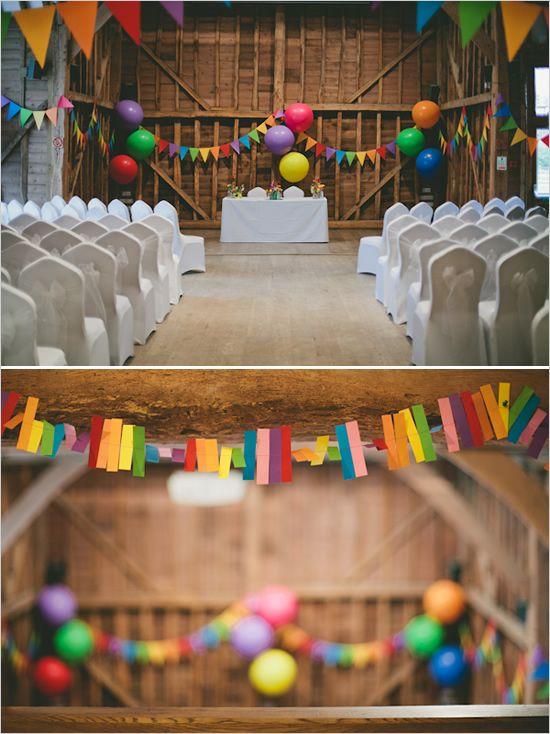 Rainbow decoration ideas for your wedding reception #rainbow #wedding