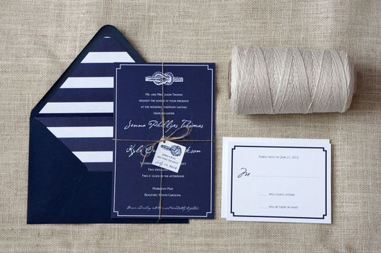 Nautical Knot Wedding Invitation Sample by DawnCorrespondence