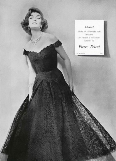 A breath-takingly elegant lace Chanel dress from 1954. #vintage #1950s #designer #fashion