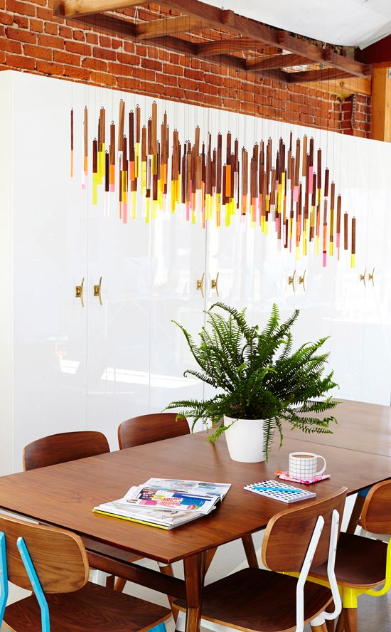Lucite and wood mobile by Bramble Workshop for Oh Joy Studio