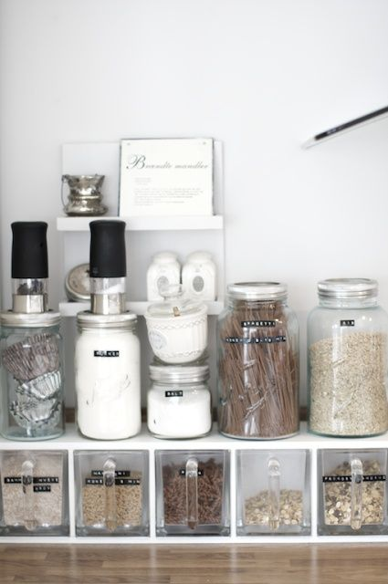 Label Clear Storage Containers - yourhomedecoridea... - #home_ideas #home_decor #home_design  #home_decorating #kitchen_ideas #living_room_ideas #bathroom  #bathroom_decor #storage_ideas #pantry_ideas #bedroom_ideas #bedroom_decor #white_kitchen_cabinets