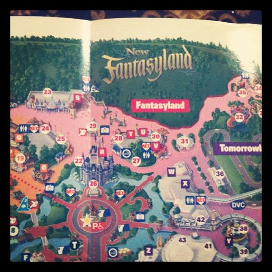 New Fantasyland has magically appeared on the most current map in Disney World's Magic Kingdom