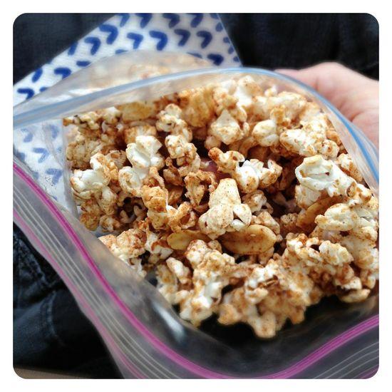 Cinnamon Glazed Popcorn (i.e. homemade Cracker Jacks).