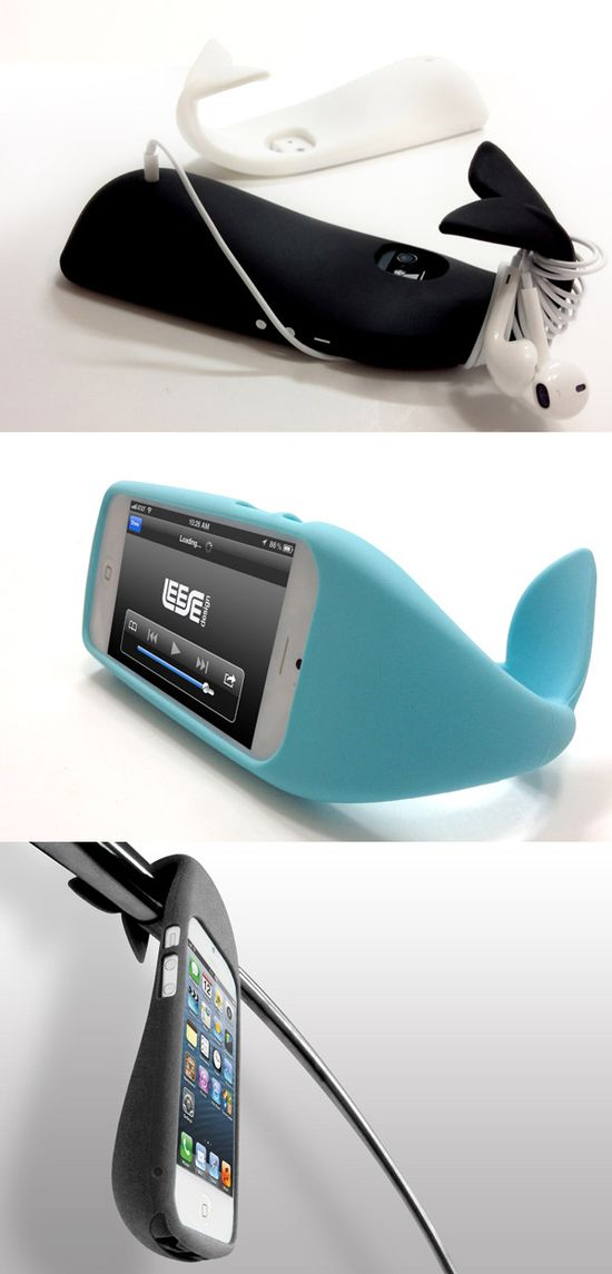 This whale-shaped iPhone case is fun and functional! I really need something like this! #iphone #case