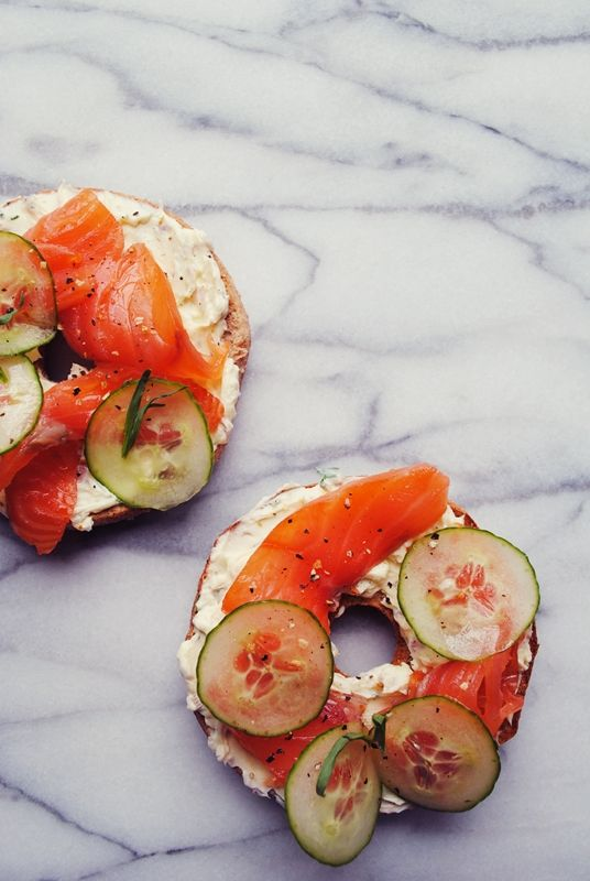 Sunday brunch inspiration: bagels and lox.