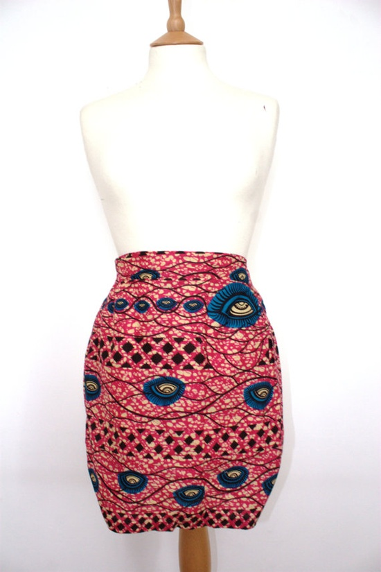 African Print Tailored Tulip Skirt