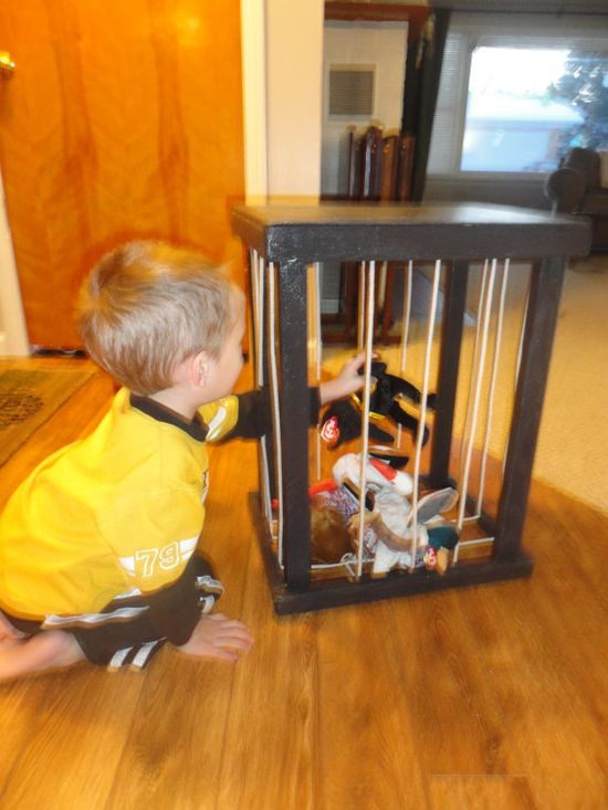 Stuffed Animal Storage Night Stand by ByFolks on Etsy, $18.00