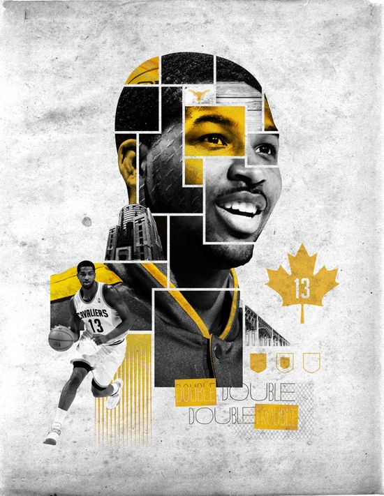 Misc Cavs Creative 13-14 by Blaine Fridrick, via Behance